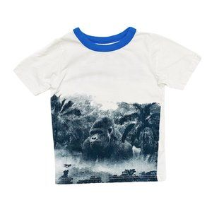 White Gorilla Print GRRR T-Shirt